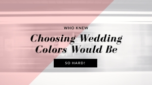 Who Knew Choosing Wedding Colors Would be So Hard!